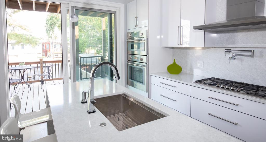 European  high gloss white cabinetry - 50 BRYANT ST NW, WASHINGTON
