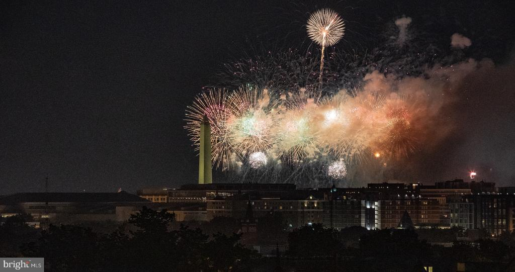 Enjoy fabulous fireworks from the roof top deck - 50 BRYANT ST NW, WASHINGTON