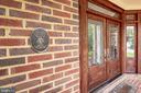 Inviting front entryway - 3601 SURREY DR, ALEXANDRIA