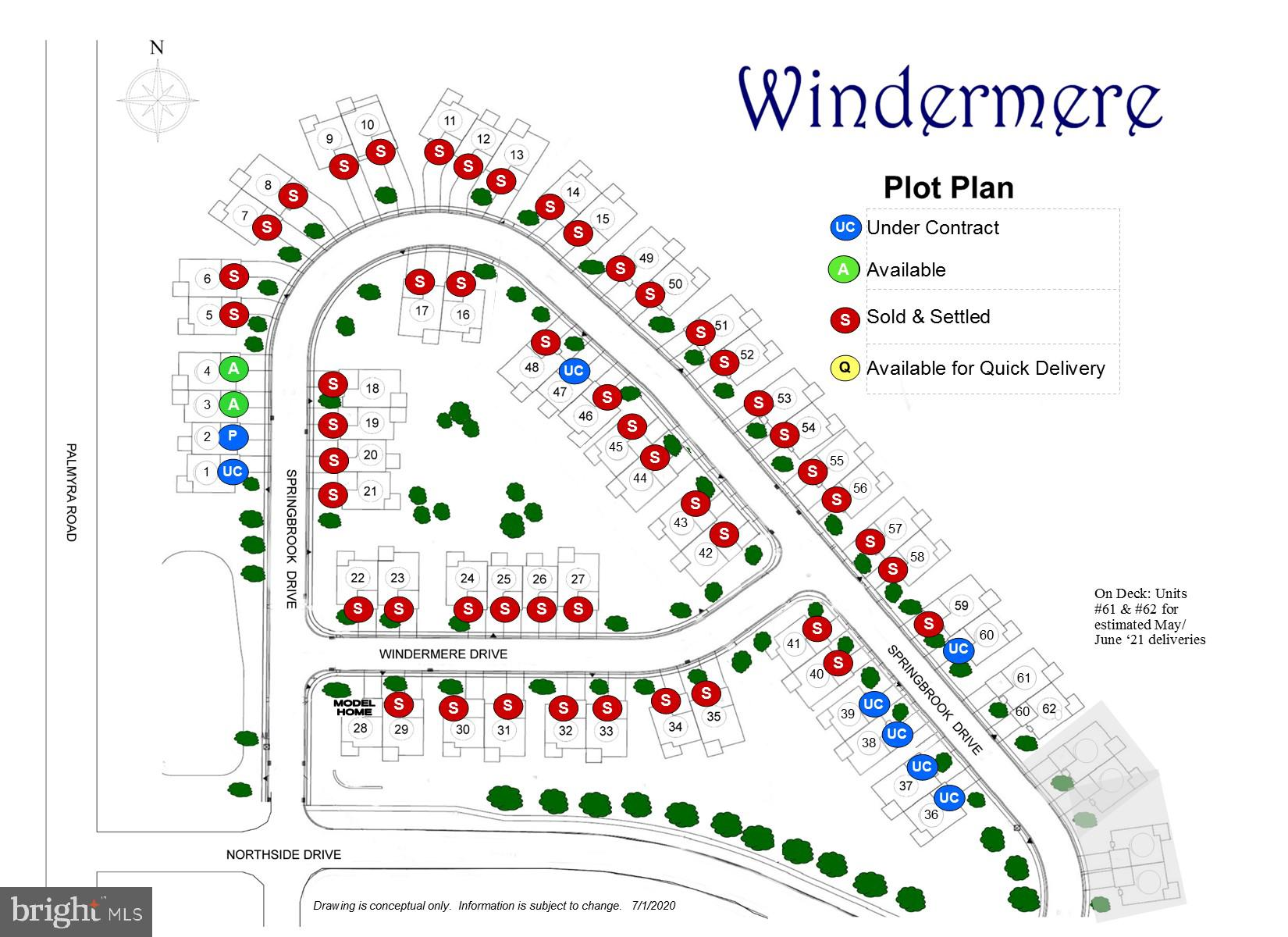 Windermere plot plan - subject to change