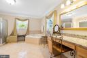 ELEGANT VANITY AREA WITH LARGE MIRROR - 228 ROCK HILL CHURCH RD, STAFFORD