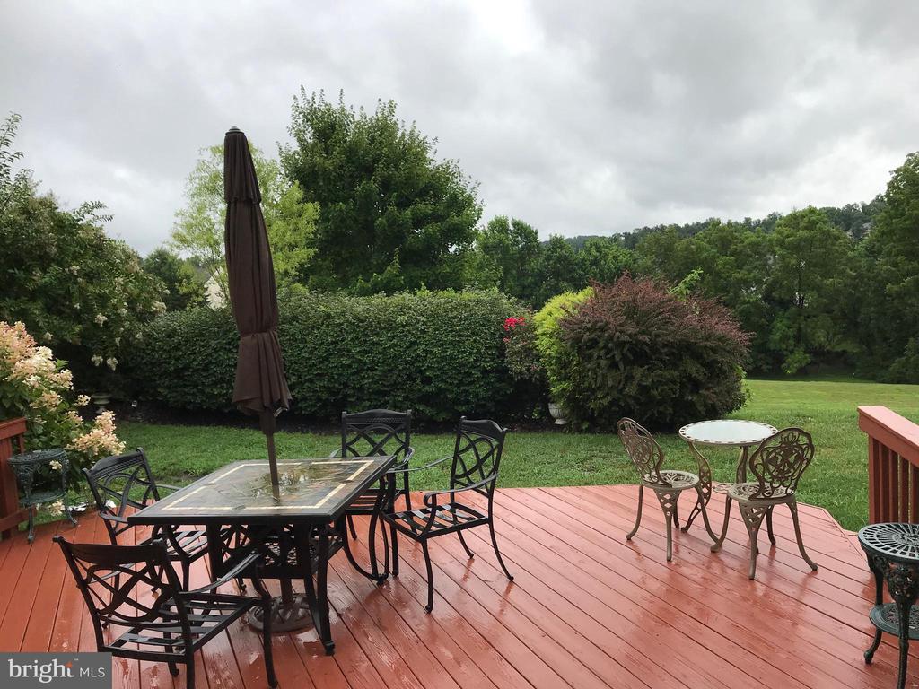 Large deck overlooking greens. off  breakfast room - 11079 SANANDREW DR, NEW MARKET