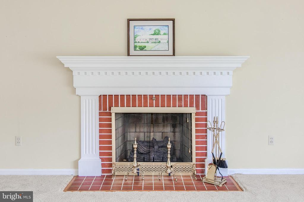 Gas fireplace in living room - 215 BROAD ST, MIDDLETOWN
