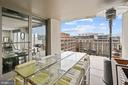 Covered living space on the private balcony. - 916 G ST NW #1004, WASHINGTON