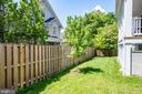 Fenced-in back yard - 4522 CHELTENHAM DR, BETHESDA