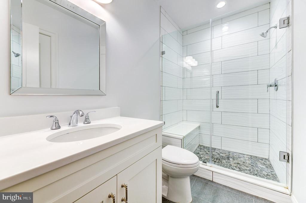 Lower level full bathroom - 4522 CHELTENHAM DR, BETHESDA