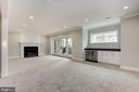 Expansive rec room w/gas fireplace - 4522 CHELTENHAM DR, BETHESDA