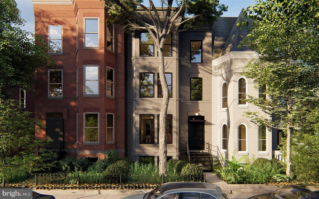 Front Exterior Rendering of 1422 Q Street NW - 1422 Q ST NW #PH1, WASHINGTON