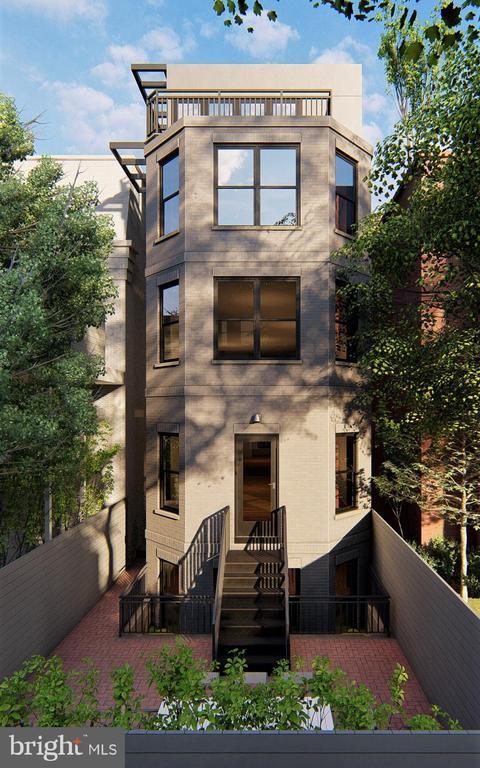 Rear Exterior Rendering of 1422 Q Street NW - 1422 Q ST NW #PH1, WASHINGTON