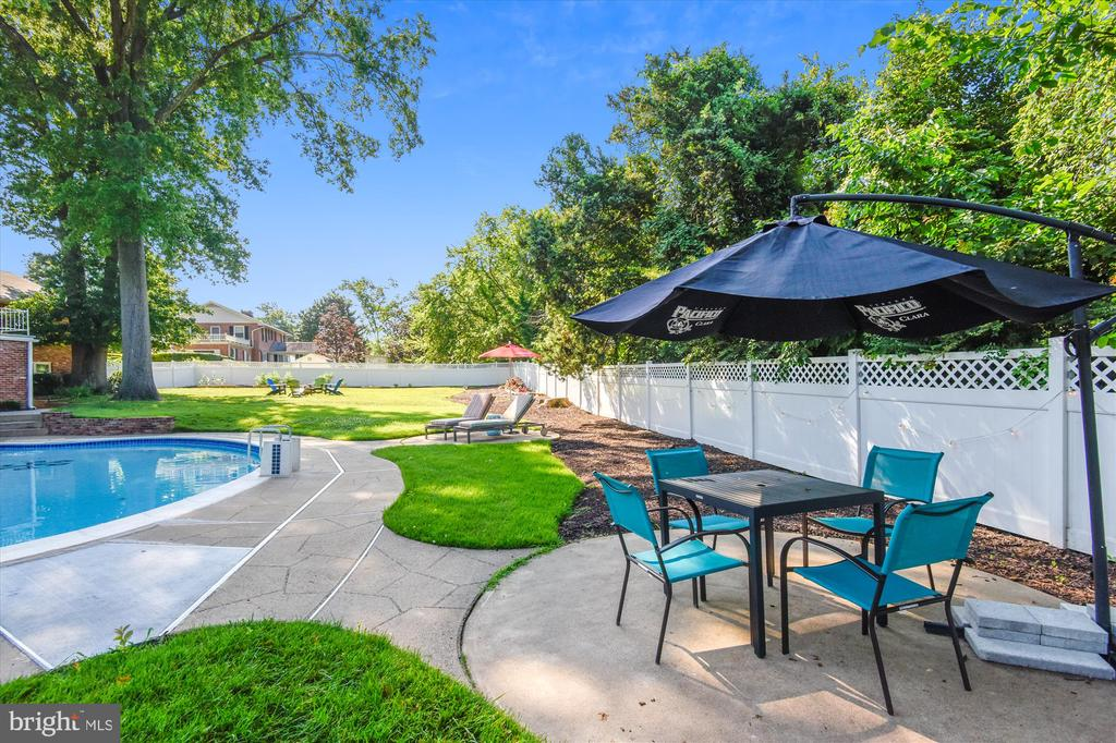Plenty of space to relax by the pool - 9031 GREYLOCK ST, ALEXANDRIA