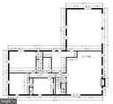 Lower level measurements - 9031 GREYLOCK ST, ALEXANDRIA
