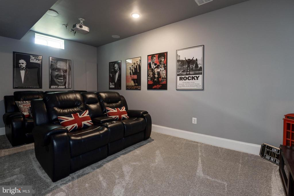 Media Room just finished June 2020 - 1057 MARMION DR, HERNDON
