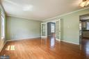Spacious Living room - 14810 CROSSVALLEY RD, BURTONSVILLE