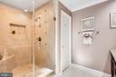 Owners walk-in shower - 348 EUSTACE RD, STAFFORD