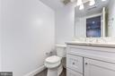 Lower level half bath - 4401 GARRISON ST NW, WASHINGTON