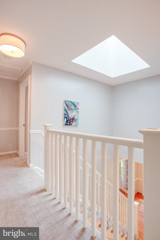 New Banisters with Skylight - 1960 BARTON HILL RD, RESTON