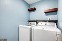 Laundry room on same floor as bedrooms - 348 EUSTACE RD, STAFFORD