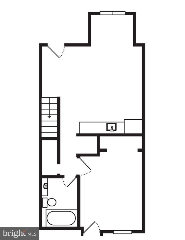 Lower Level Floor Plan - 704 G ST NE, WASHINGTON