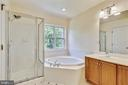 Owners Bathroom - Garden Tub Separate Shower - 8560 WYNGATE MANOR CT, ALEXANDRIA