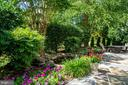 Beautiful garden and fish pond in backyard - 43559 FIRESTONE PL, LEESBURG