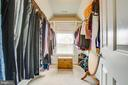 One of two walk-in closets in the master bedroom - 9 GALLERY RD, STAFFORD