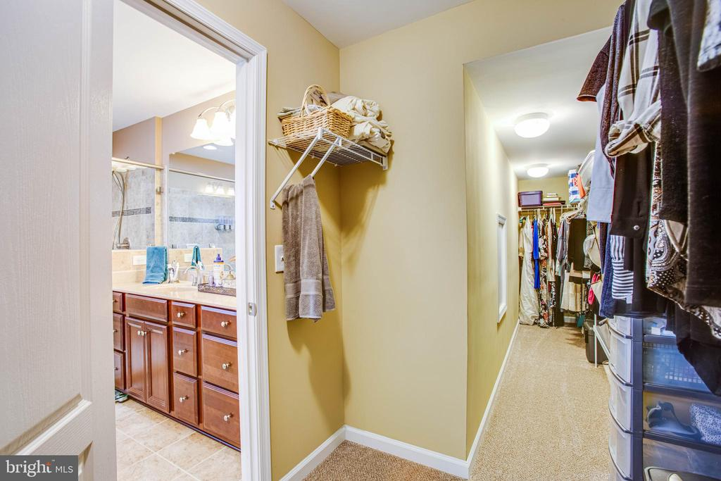 Walk-in closet off the bathroom - 52 WAGONEERS LN, STAFFORD