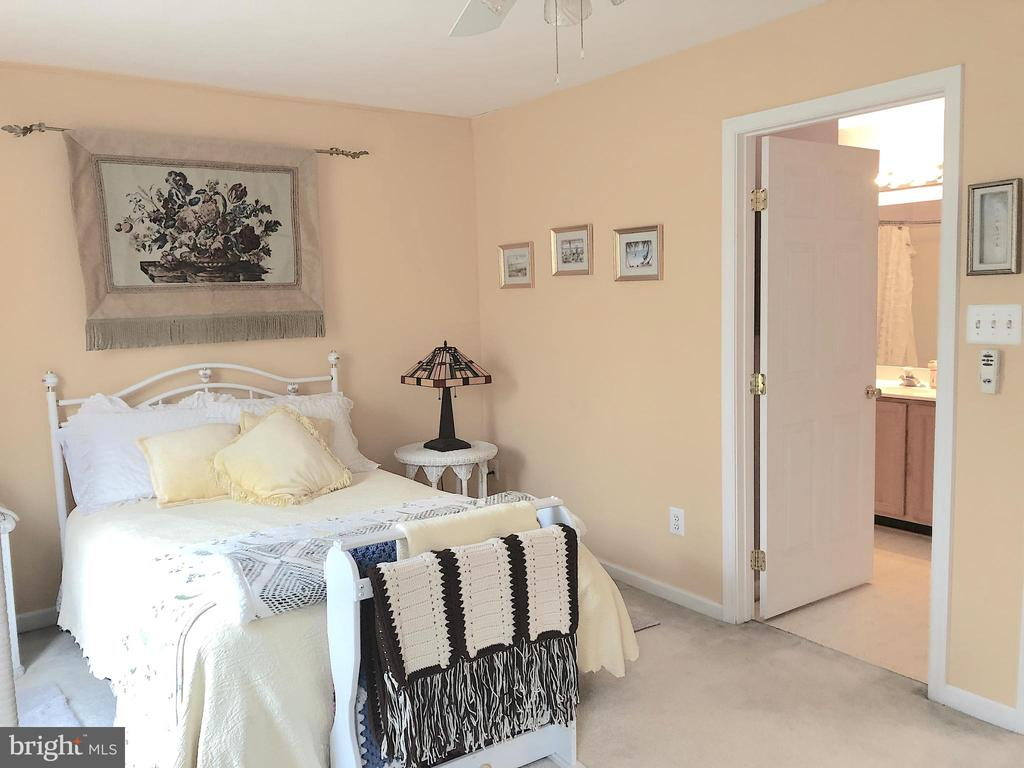 Front bedroom with private access to hall bath - 4301 CIDER BARREL CT, FREDERICKSBURG
