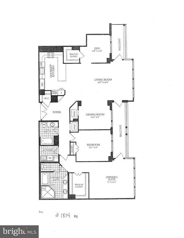 Floor Plan - 8220 CRESTWOOD HEIGHTS DR #1814, MCLEAN