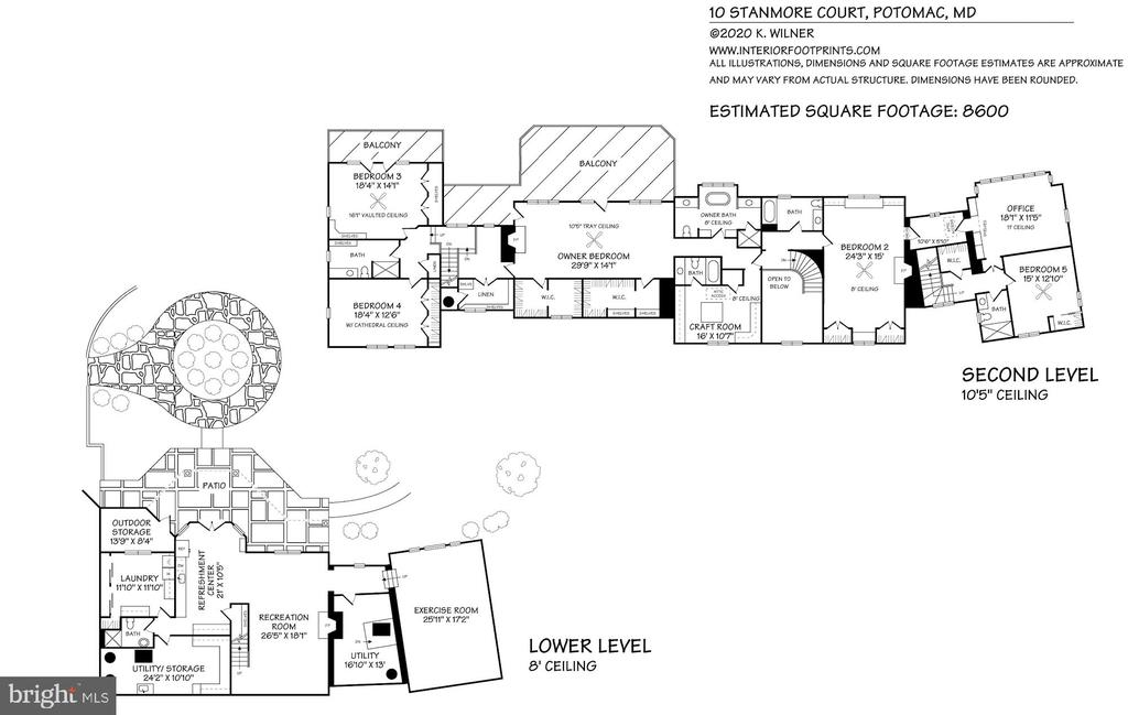 Upper and Lower Floor {Plan - 10 STANMORE CT, POTOMAC