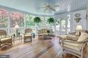 Sensational Screened-in Porch. Wood floor. - 10 STANMORE CT, POTOMAC