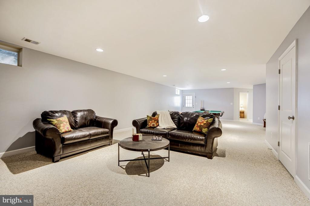 Spacious recreation room - 3805 COLONIAL AVE, ALEXANDRIA