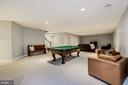 Plenty of room for a billiards table! - 3805 COLONIAL AVE, ALEXANDRIA