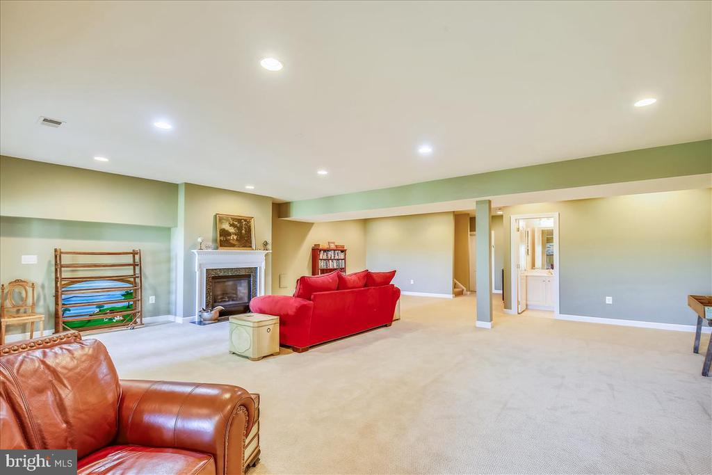 Cozy gas fireplace, recessed lights - 18356 FAIRWAY OAKS SQ, LEESBURG