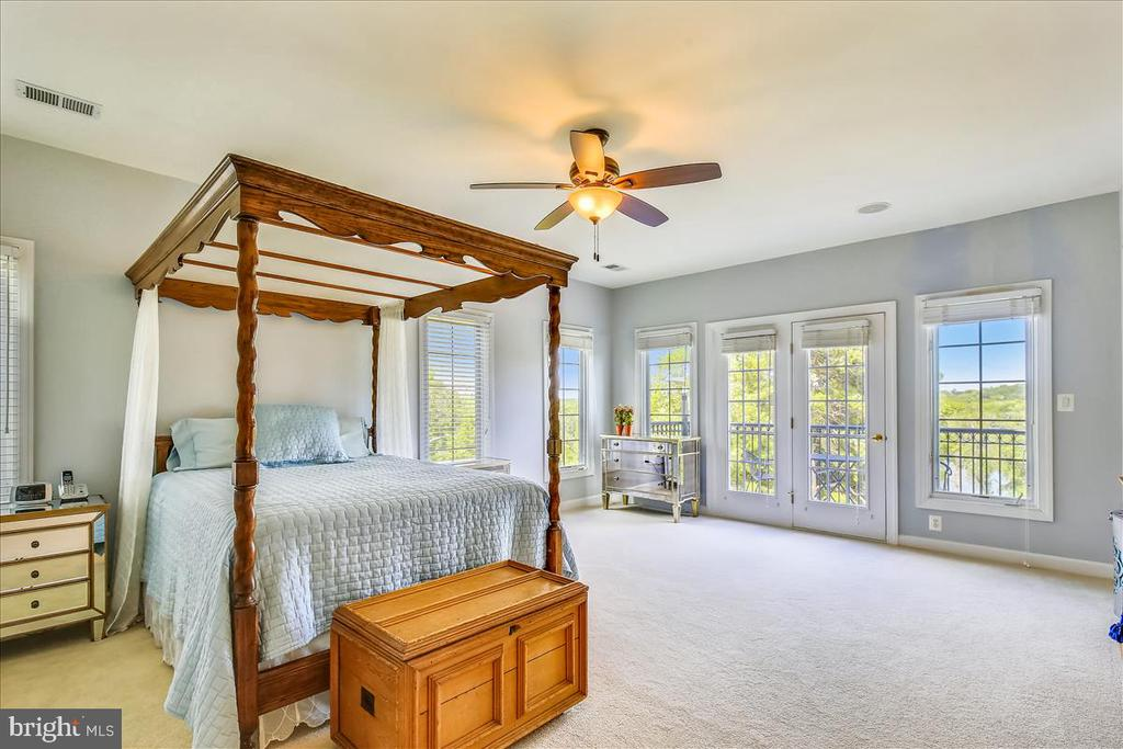 Spacious owners' suite with doors to private deck - 18356 FAIRWAY OAKS SQ, LEESBURG
