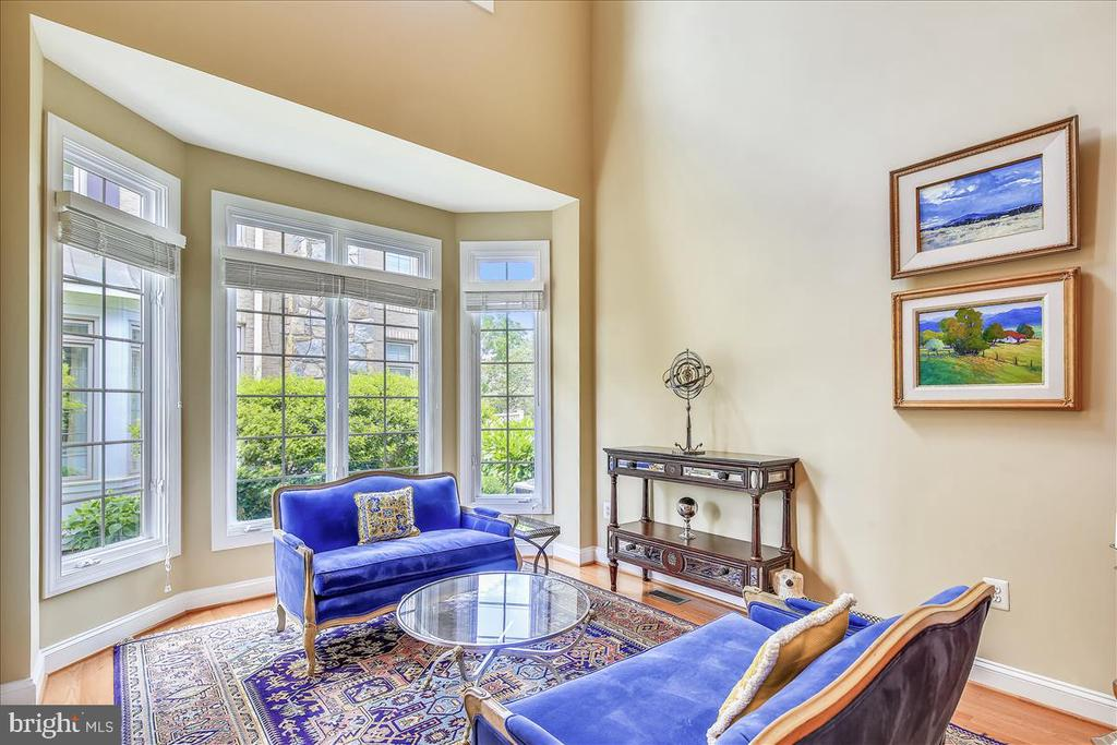 Wonderful natural light in formal living room - 18356 FAIRWAY OAKS SQ, LEESBURG