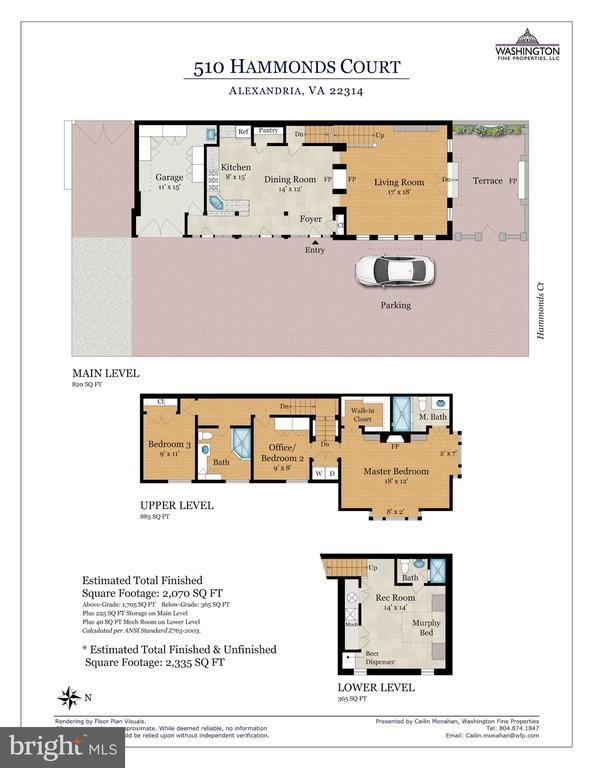 Floor plan - 510 HAMMONDS CT, ALEXANDRIA