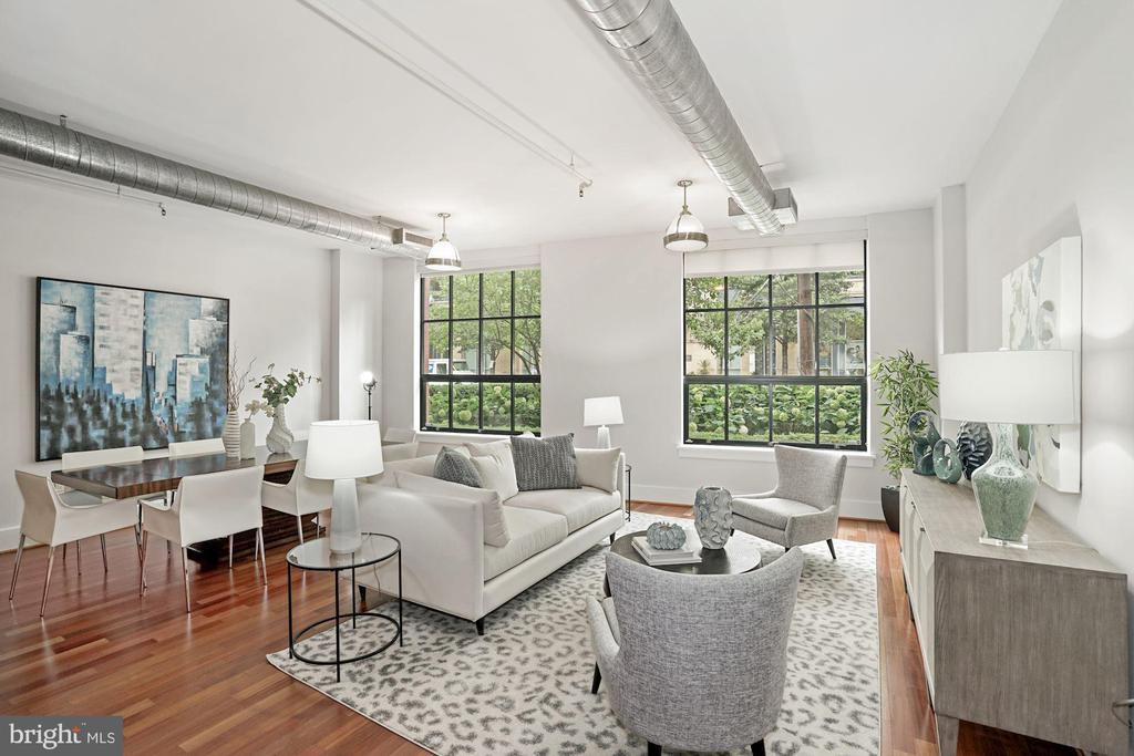 Living and Dining Area - 1600 CLARENDON BLVD #W107, ARLINGTON
