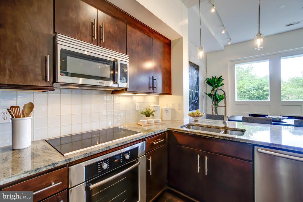 Kitchen with Bosch appliances - 1341 MARYLAND AVE NE #103, WASHINGTON