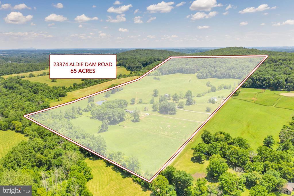 ALL 65 Acres - 23874 and 23880 Aldie Dam Rd - 23880 ALDIE DAM RD, ALDIE