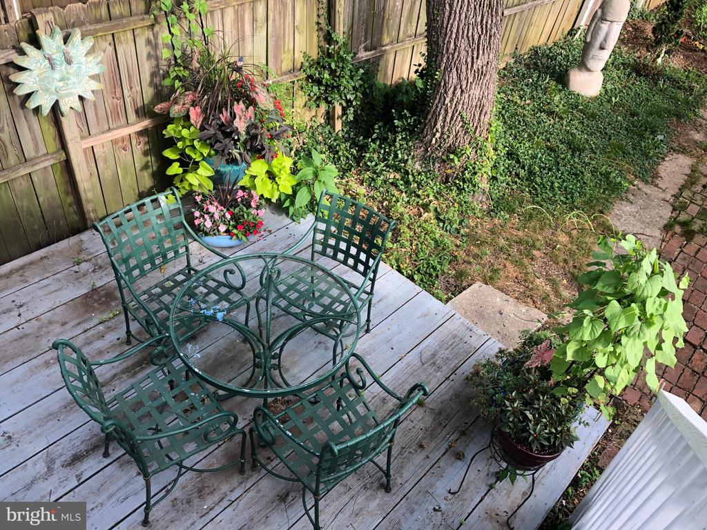 Rear deck/patio for outside grilling and dining! - 432 W SOUTH ST, FREDERICK