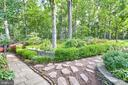 Rear yard with lavish landscaping - 10095 DUDLEY DR, IJAMSVILLE