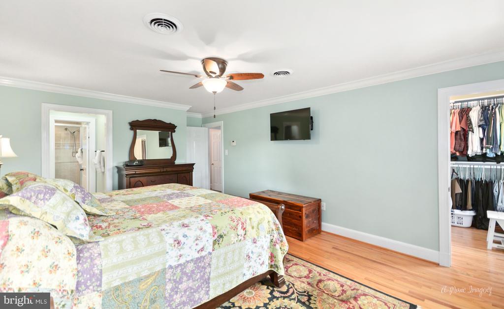 Spacious master bedroom with hardwood flooring - 10095 DUDLEY DR, IJAMSVILLE