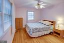 True Owner's bedroom with hardwoods - 6100 THOMAS DR, SPRINGFIELD