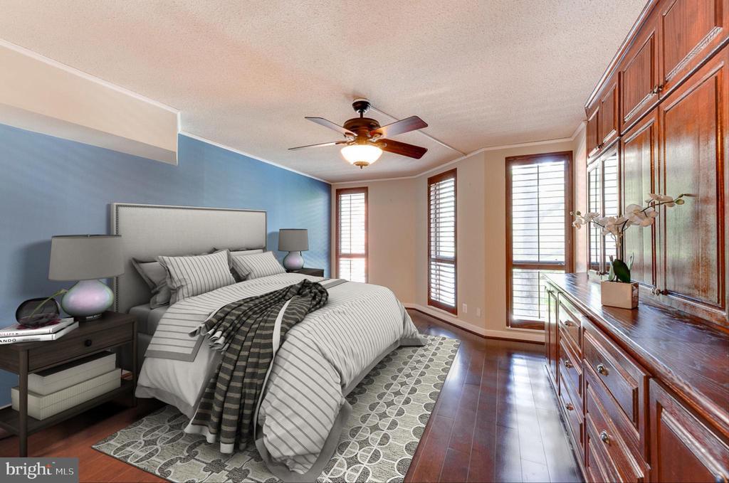 Master Bedroom virtually staged - 1099 22ND ST NW #304, WASHINGTON