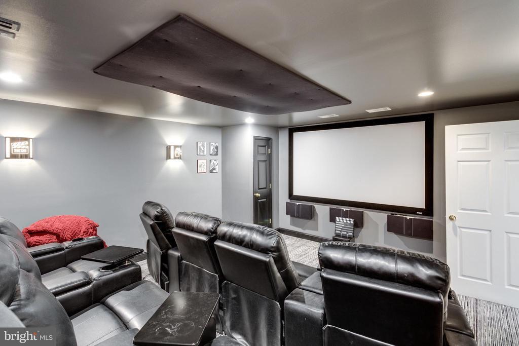 Lower Level Media Room - 11329 HENDERSON RD, FAIRFAX STATION