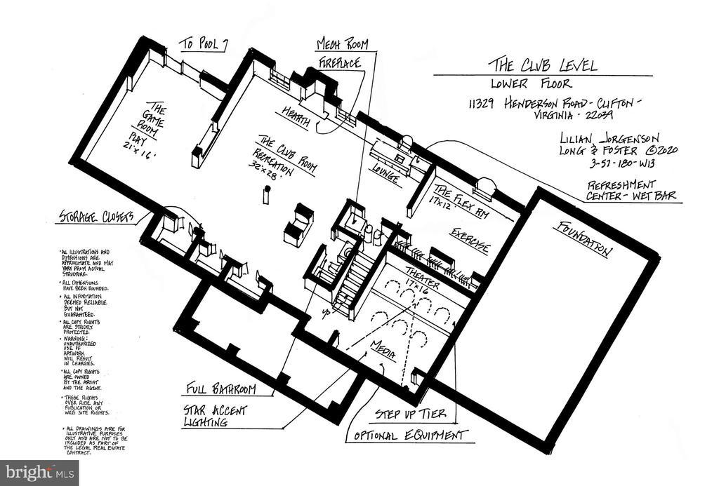 Lower Level Floor Plan - 11329 HENDERSON RD, FAIRFAX STATION