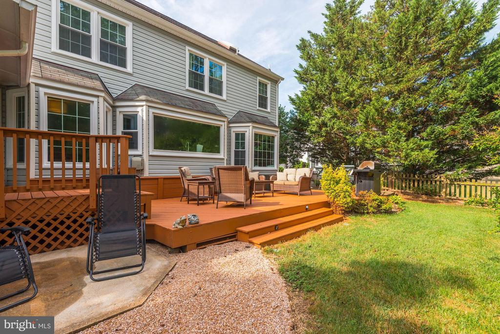 Rear view of home- Large Deck & Patio - 7 CRISSWELL CT, STERLING