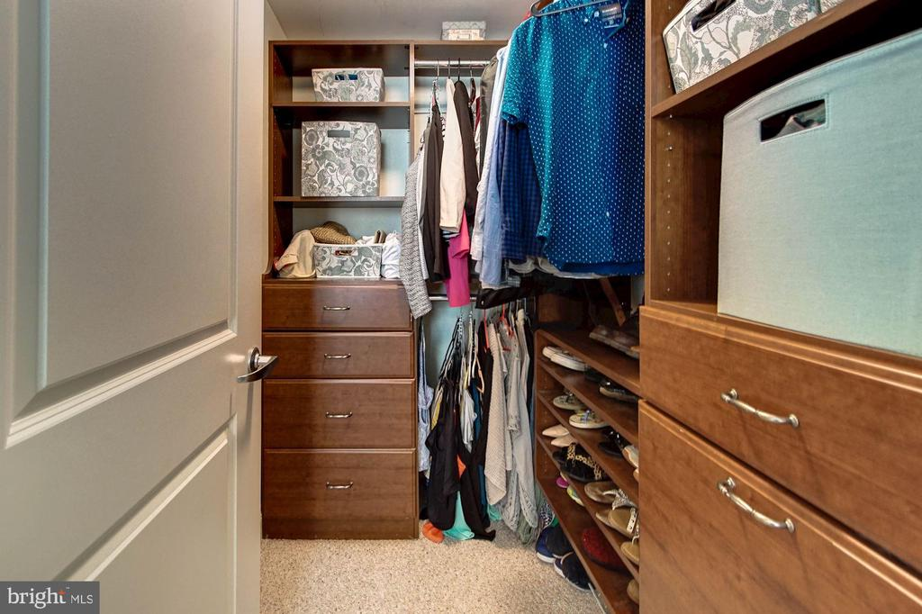 Large walk-in closet with custom organizers - 1020 N HIGHLAND ST #413, ARLINGTON
