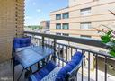 Balcony off of living room - 1020 N HIGHLAND ST #413, ARLINGTON