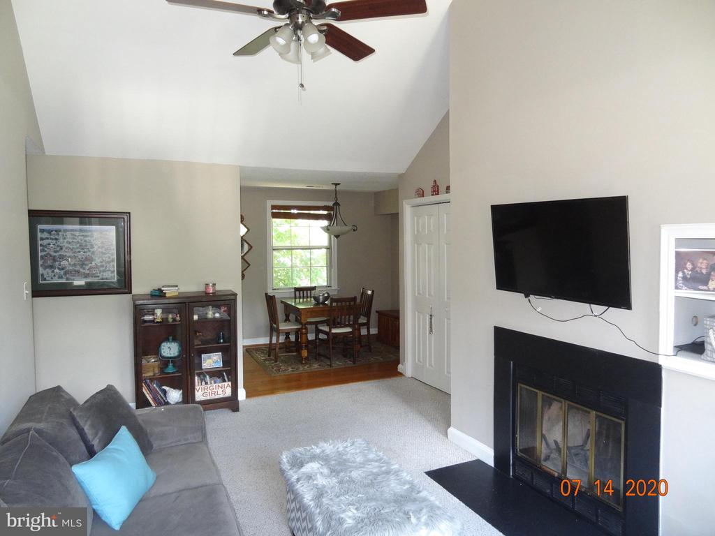 Family Room with Woodburning Fireplace - 2411 ARLINGTON BLVD #201, ARLINGTON